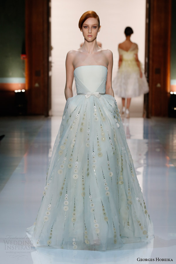georges hobeika couture spring summer 2014 strapless gown bow Georges Hobeika: Sve nijanse elegancije