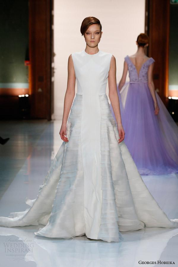 georges hobeika spring 2014 couture sleeveless white dress