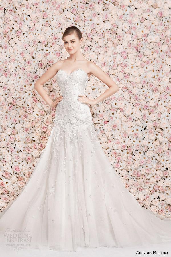 georges hobeika wedding dresses 2014 strapless gown