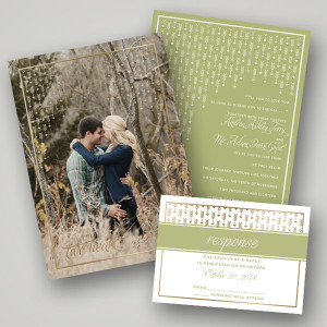 invitations by dawn bridal stationery photo invite rsvp card style falling arrows