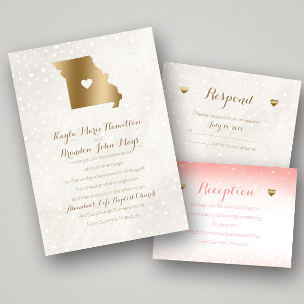 Hot Trend Foil Stamped Wedding Stationery from Invitations by