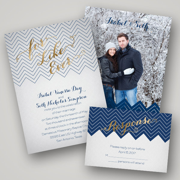Hot Trend: Foil Stamped Wedding Stationery From