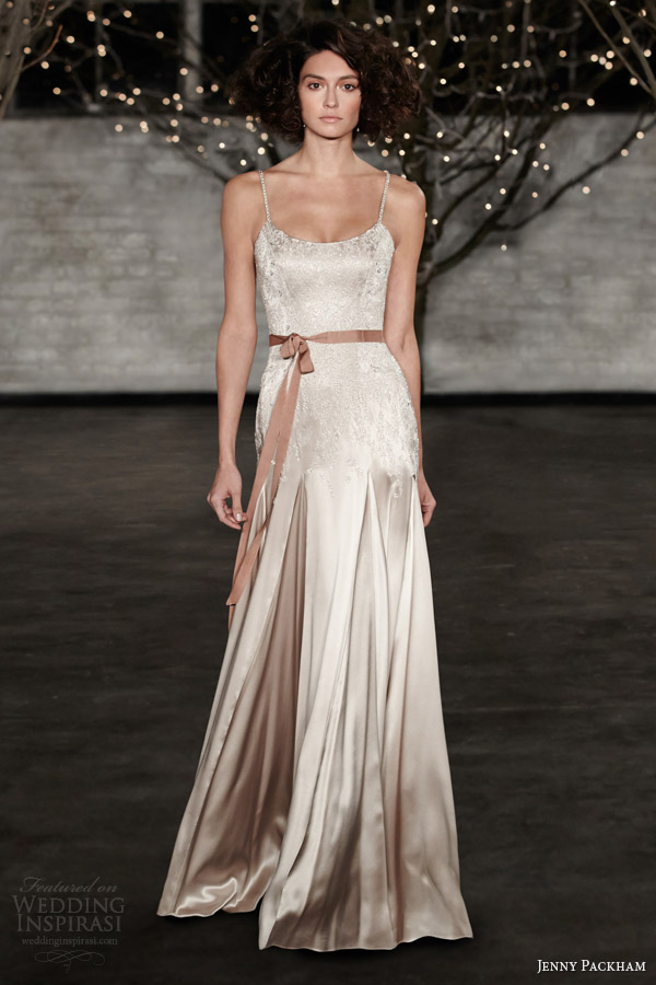 Jenny packham bridal spring 2014 wedding dresses wedding for Different colored wedding dresses