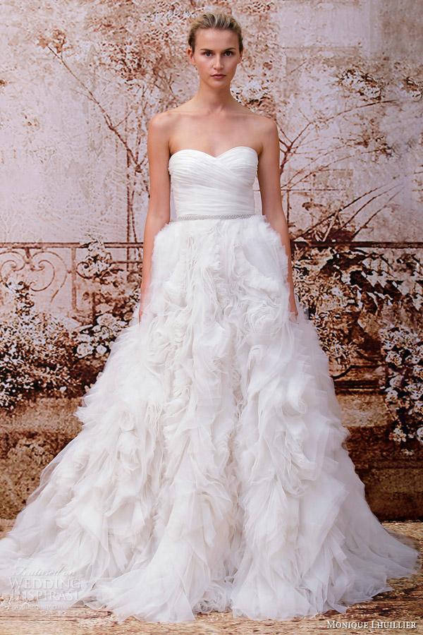 monique lhuillier 2014 bridal skye strapless wedding dress