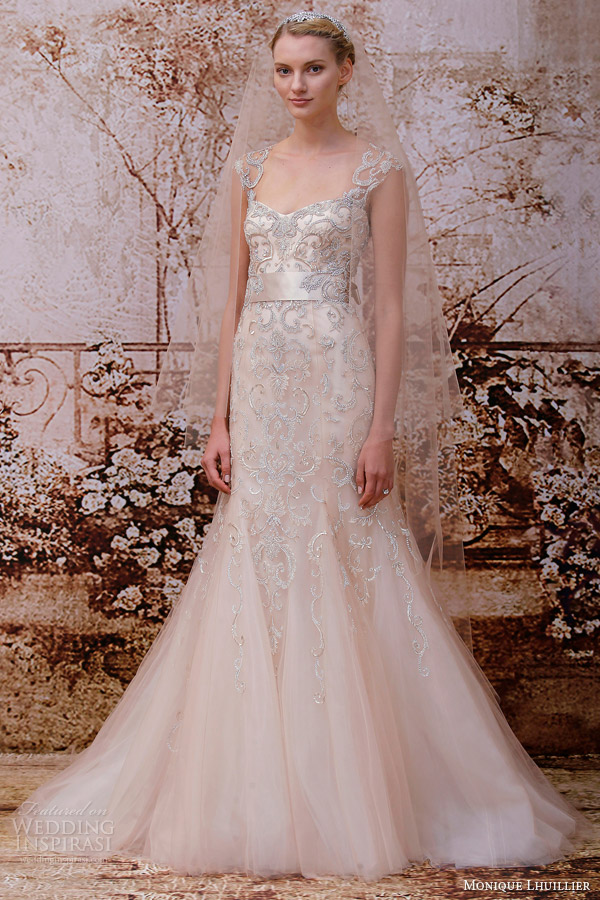 Monique lhuillier fall 2014 wedding dresses wedding for Monique lhuillier wedding dress