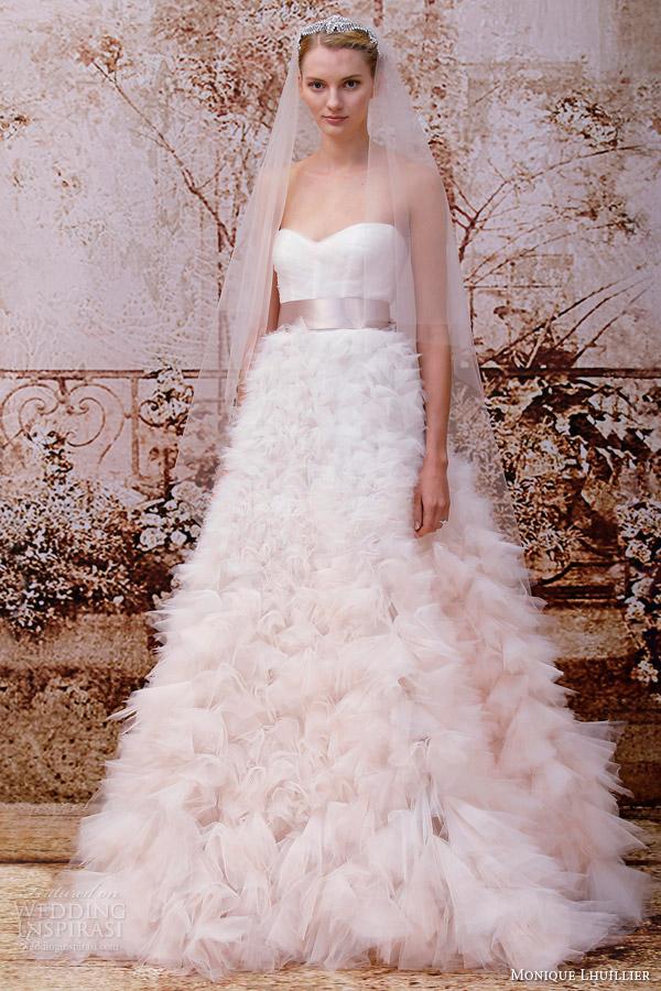 Monique Lhuillier Fall 2014 Wedding Dresses Wedding Inspirasi