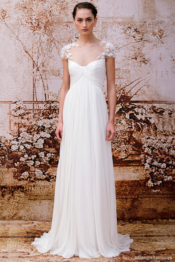 Monique Lhuillier Fall 2014 Wedding Dresses Wedding Inspirasi Page 2