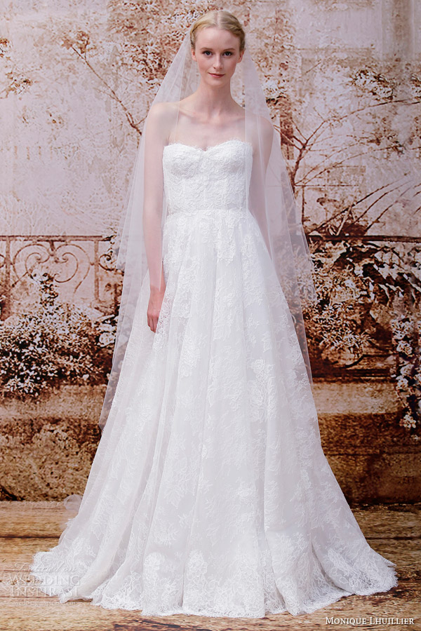 Monique Lhuillier Fall 2014 Wedding Dresses Wedding Inspirasi Page 2