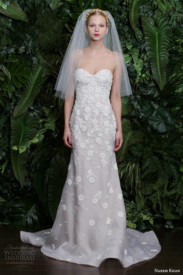 naeem khan bridal 2014 fall nantucket strapless wedding dress