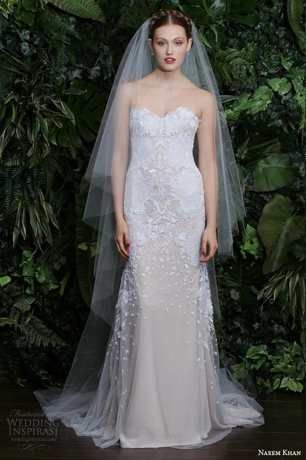 naeem khan bridal fall 2014 rio strapless sweetheart wedding dress