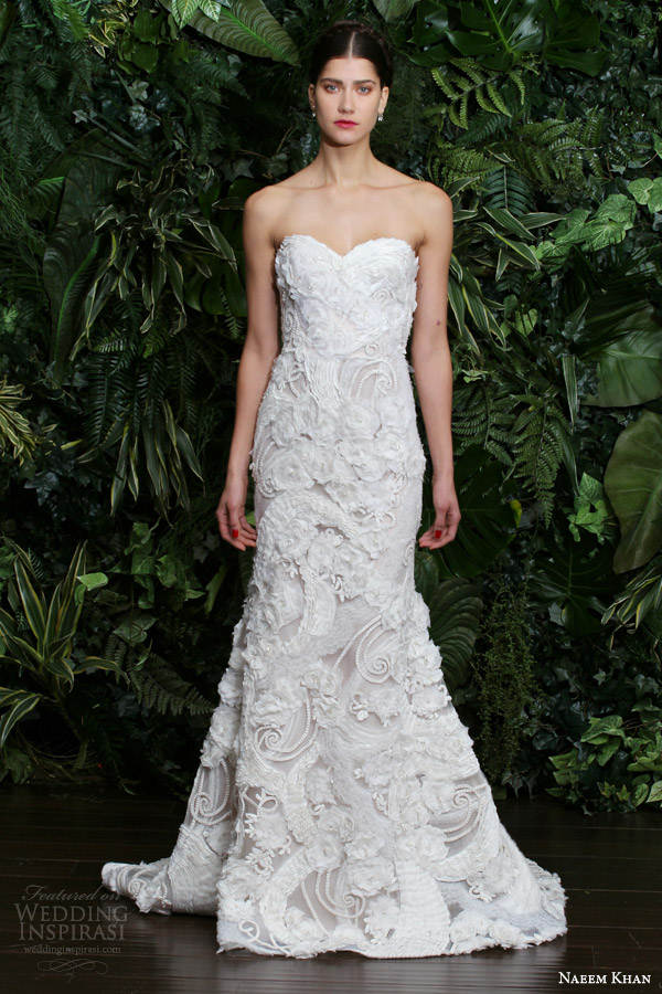 Embroidered Mexican Wedding Dress 38 Unique naeem khan fall bridal
