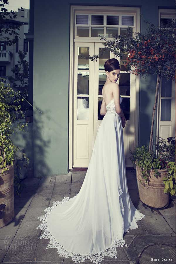 riki dalal wedding dresses 2014 strapless gown lace bodice
