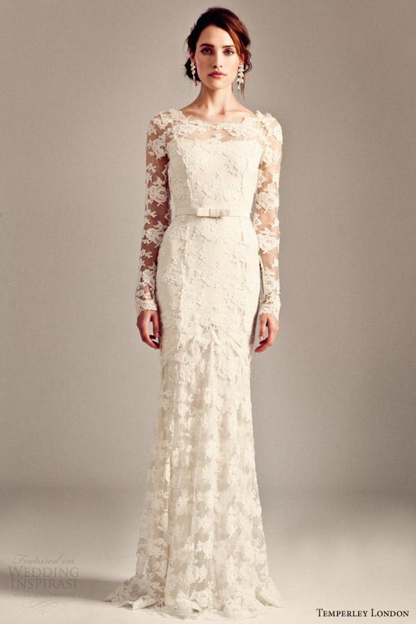 temperley bridal 2014 iris collection florence long sleeve wedding dress