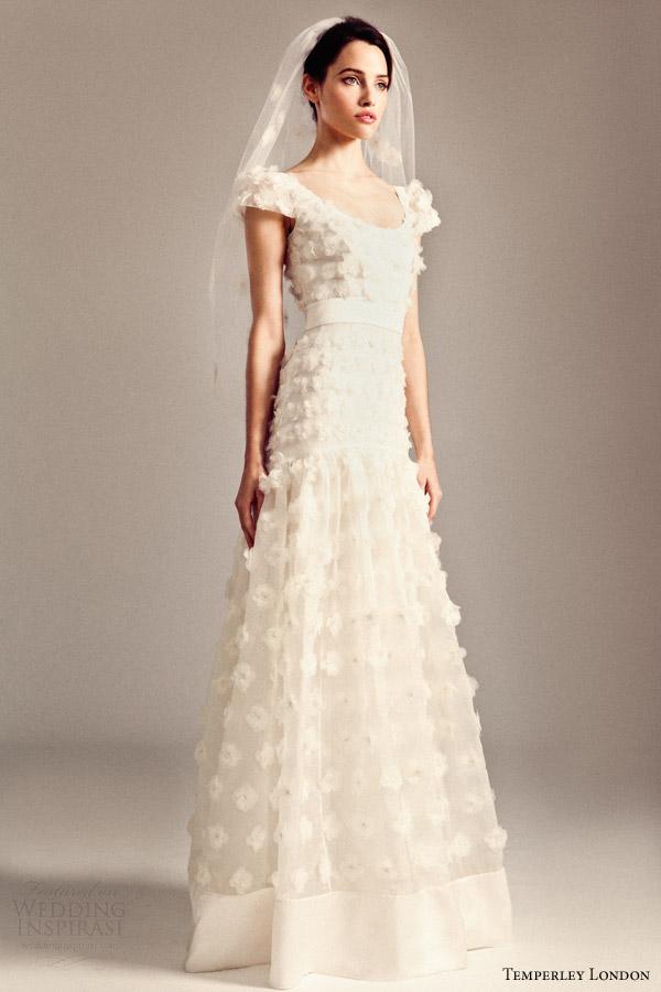 temperley bridal 2014 iris collection gwyn cap sleeve wedding dress