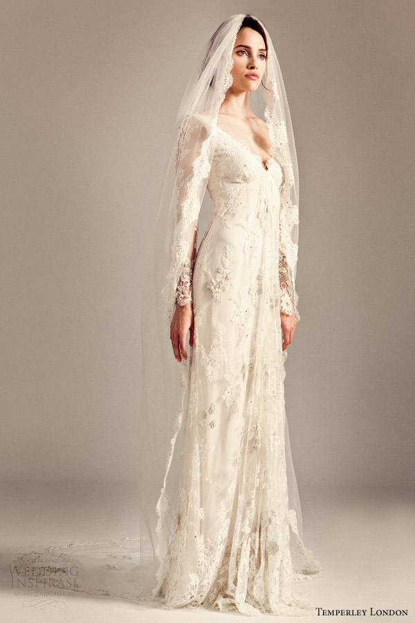 Temperley london 2014 2015 wedding dresses iris bridal for Long veil wedding dresses