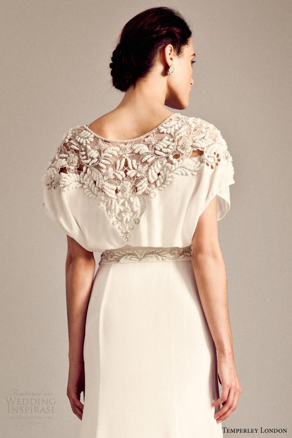 temperley bridal fall 2014 2015 iris willow wedding dress back