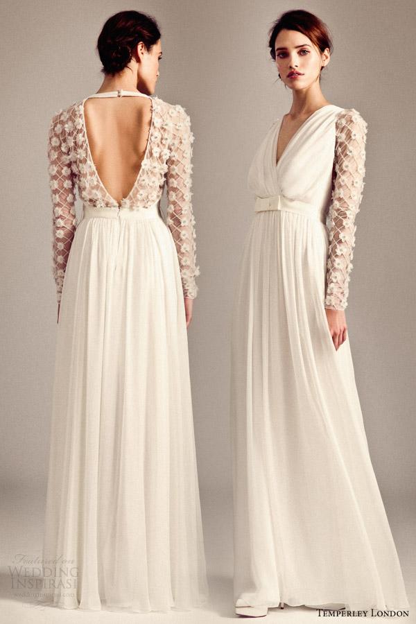 temperley bridal fall 2014 iris leigh long sleeve wedding dress