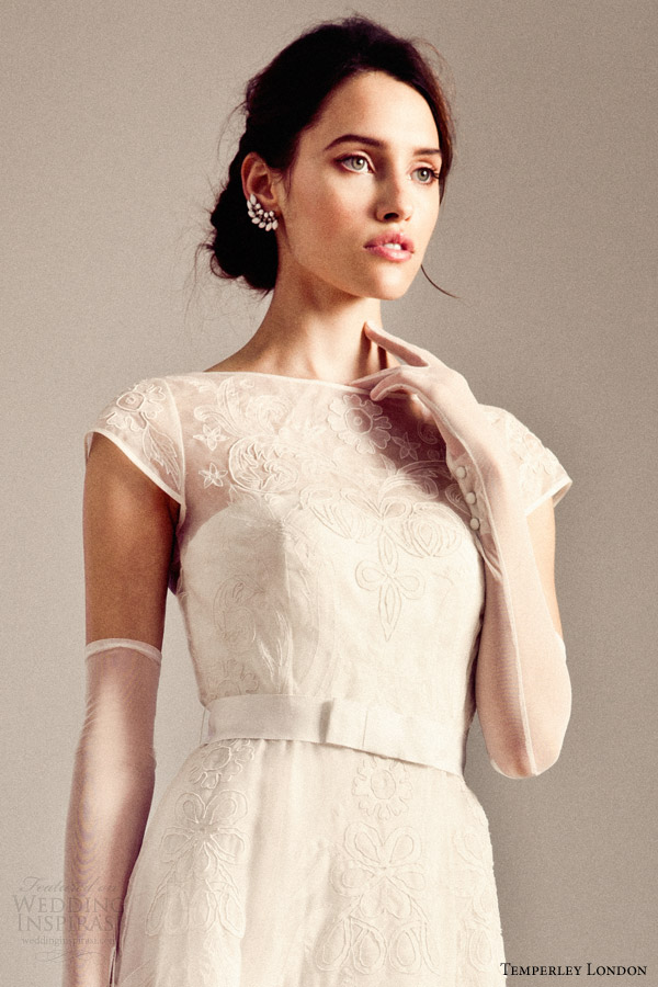 temperley bridal fall 2014 iris valerie wedding dress close up