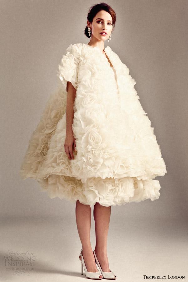 temperley london 2014 bridal iris collection rose skirt evening coat