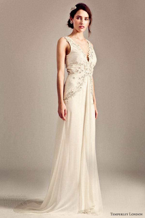 temperley london bridal 2014 iris romily sleeveless wedding dress