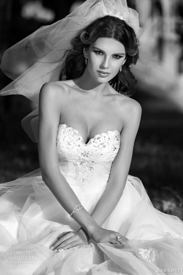 bien savvy bridal spring 2014 one love natalie strapless wedding dress