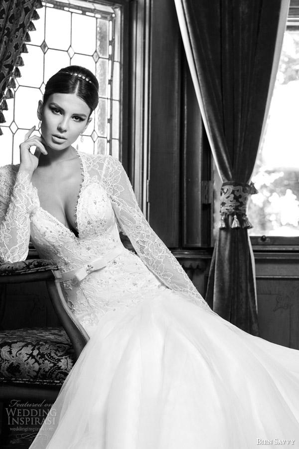 bien savvy bridal spring 2014 victoria long sleeve wedding dress