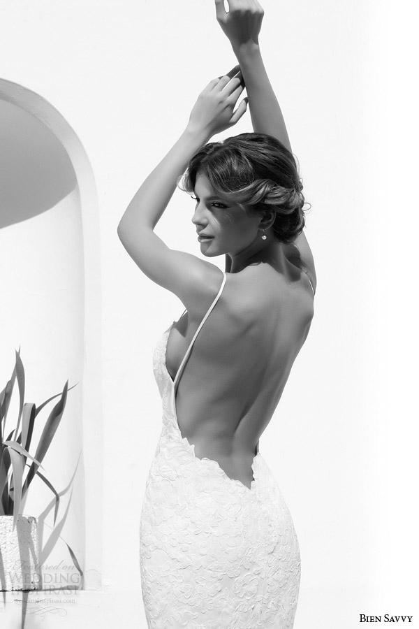 bien savvy one love spring 2014 eva backless lace wedding dress