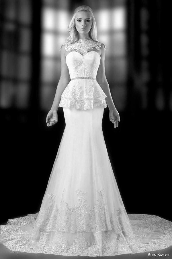 bien savvy spring 2014 unique wedding dresses regina gown jeweled neckline ful shot
