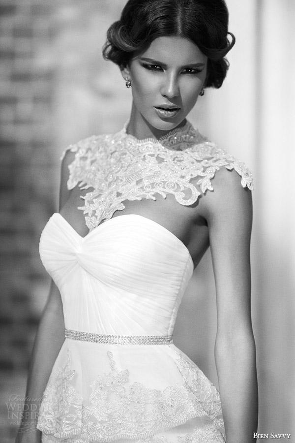 bien savvy spring 2014 unique wedding dresses regina gown jeweled neckline