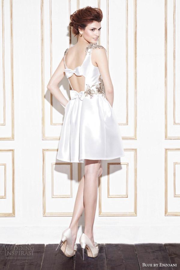 blue by enzoani 2014 gage short wedding dress back