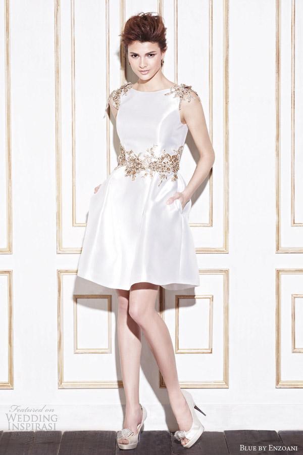 blue by enzoani 2014 gage short wedding dress
