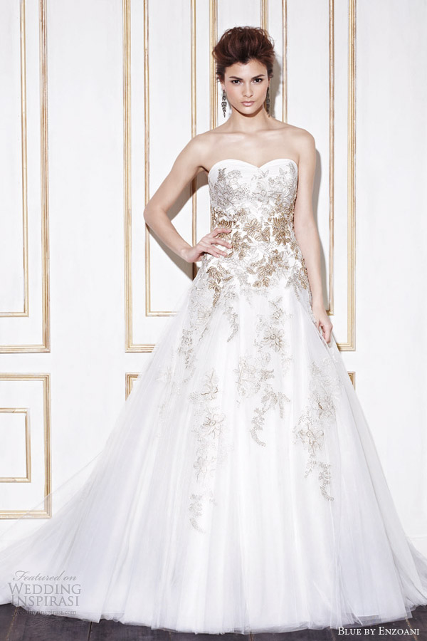 blue by enzoani 2014 galela strapless wedding dress