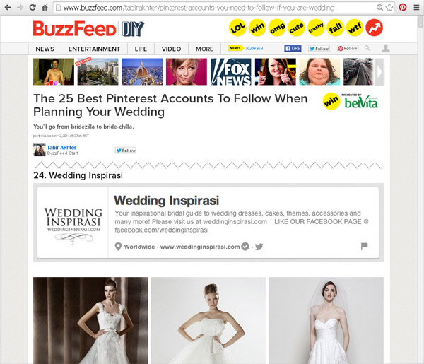 buzzfeed 25 best pinterest accounts to follow wedding inspirasi 600