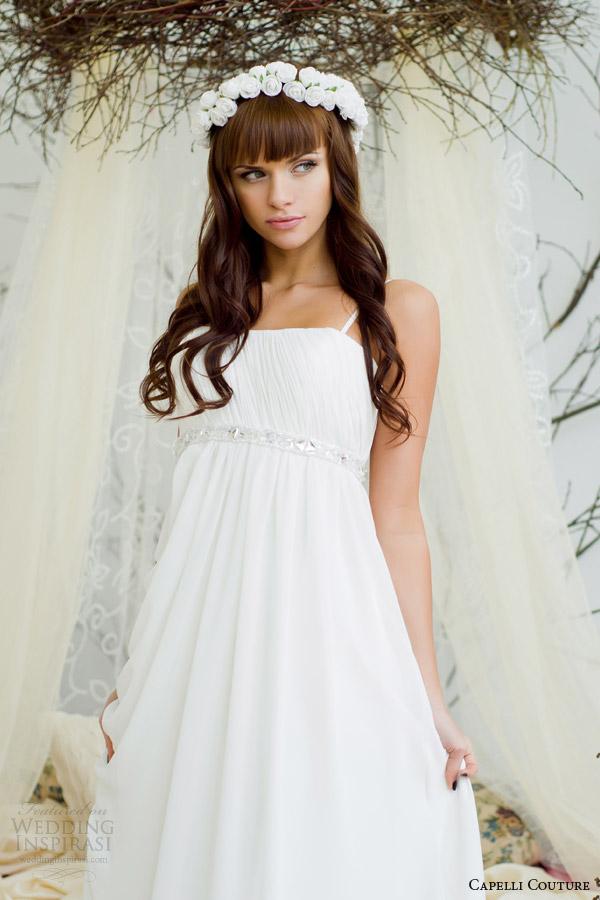 capelli costura Detalhe do vestido de casamento 2014 império