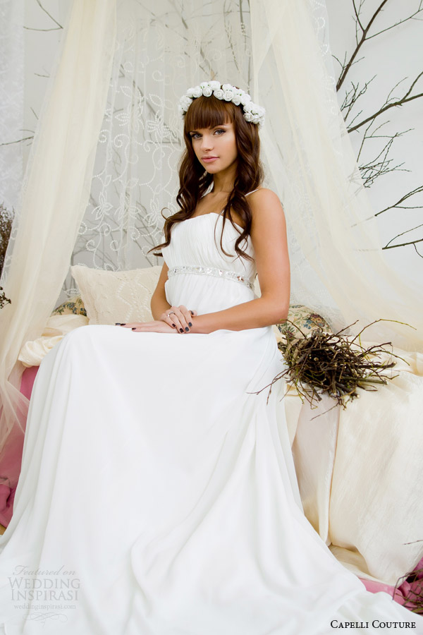 capelli costura vestido de noiva 2014 império sit