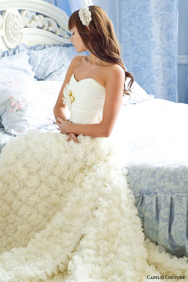 capelli costura 2014 vestido de noiva plissado saia