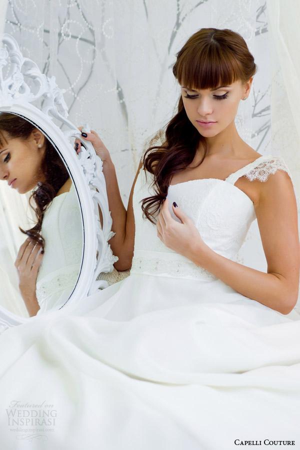 capelli costura 2014 vestido de casamento com cintas de perto