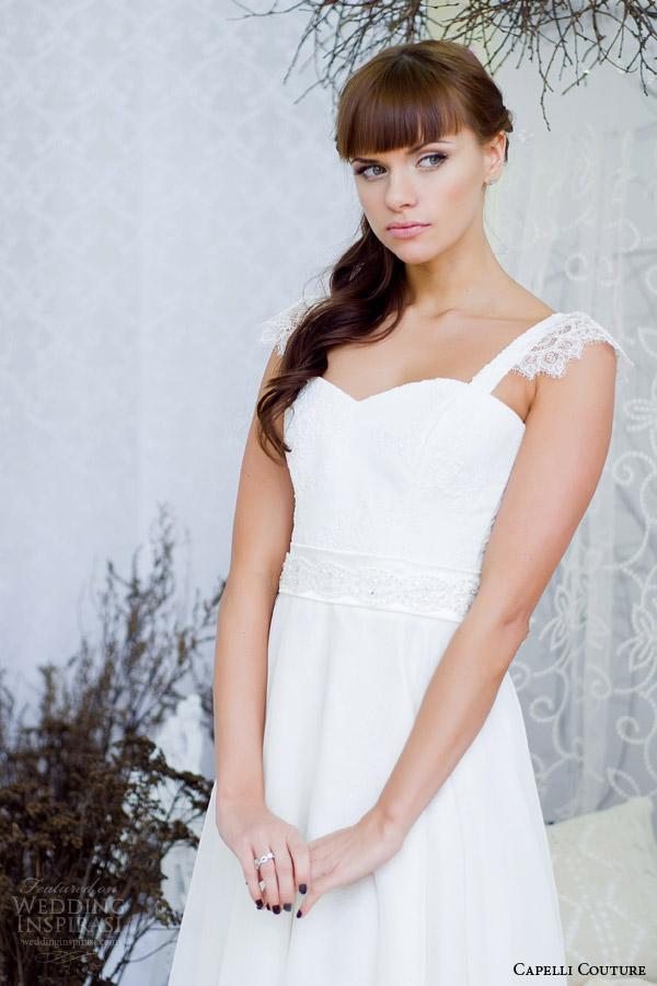 capelli costura 2014 vestido de casamento com cintas