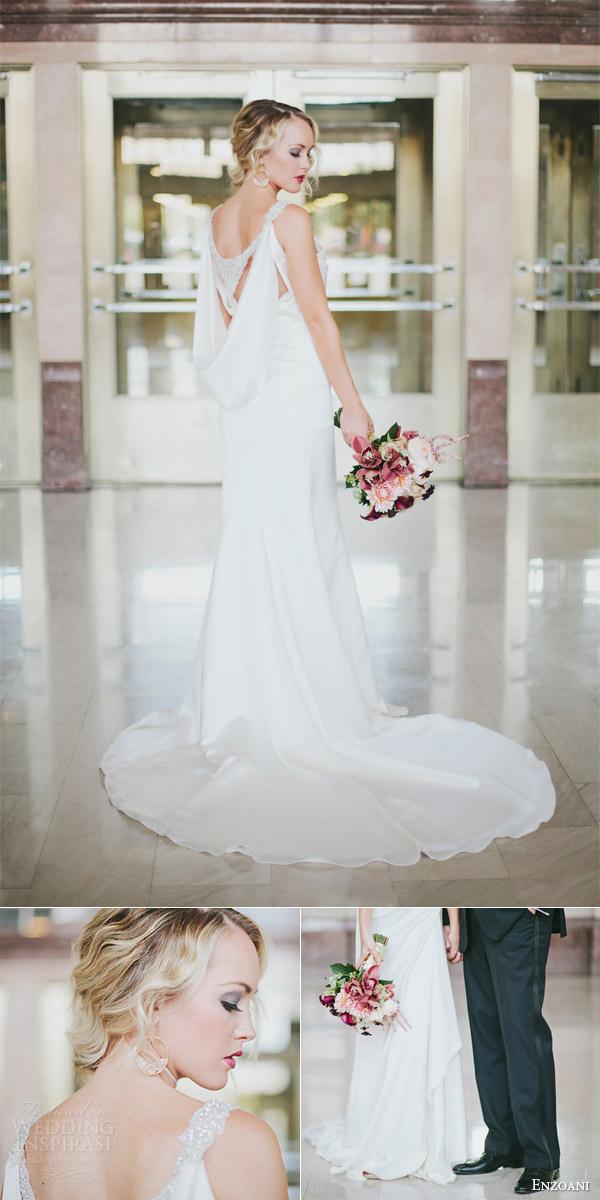 enzoani 2013 harmony wedding dress grecian draped detail