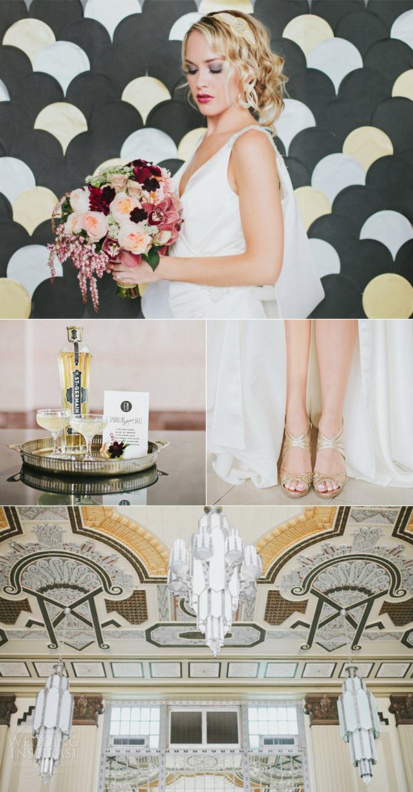 enzoani harmony wedding dress art deco themed photo shoot
