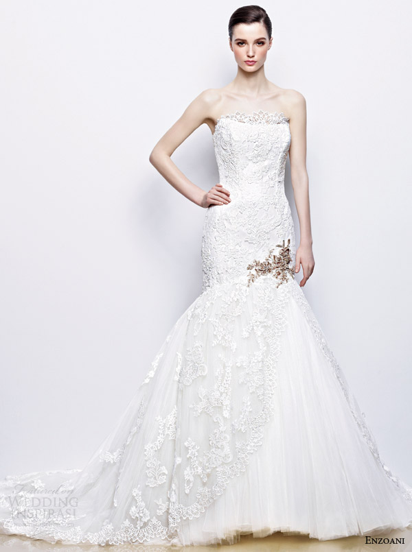enzoani imala wedding dress gold accents