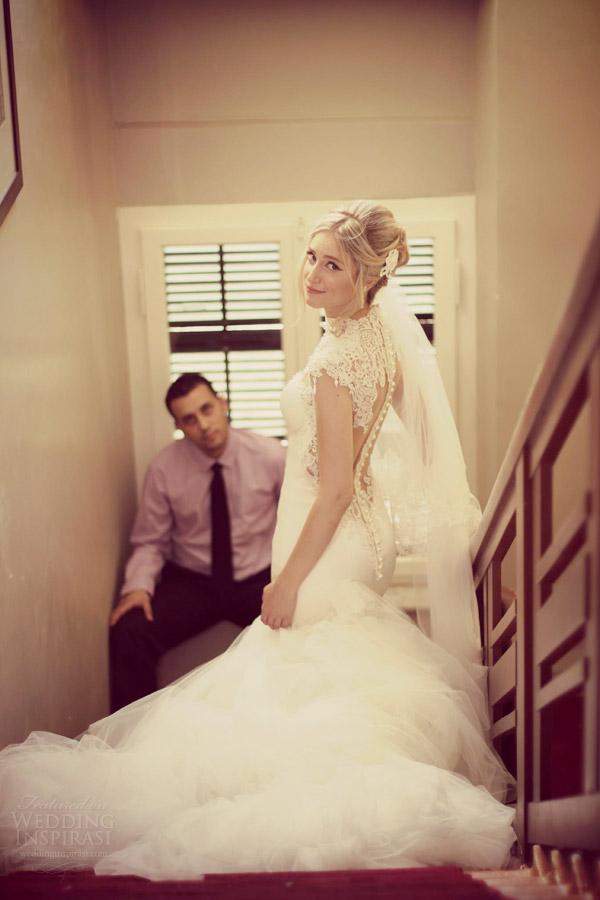 vestido de noiva galia Lahav 2014 manga cap verdadeira noiva sessão de fotos