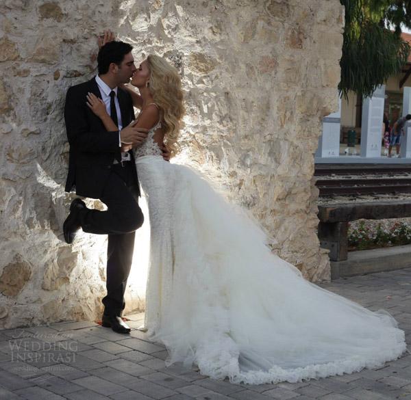 galia Lahav bridal 2014 casal casamento real noiva beijo shoot