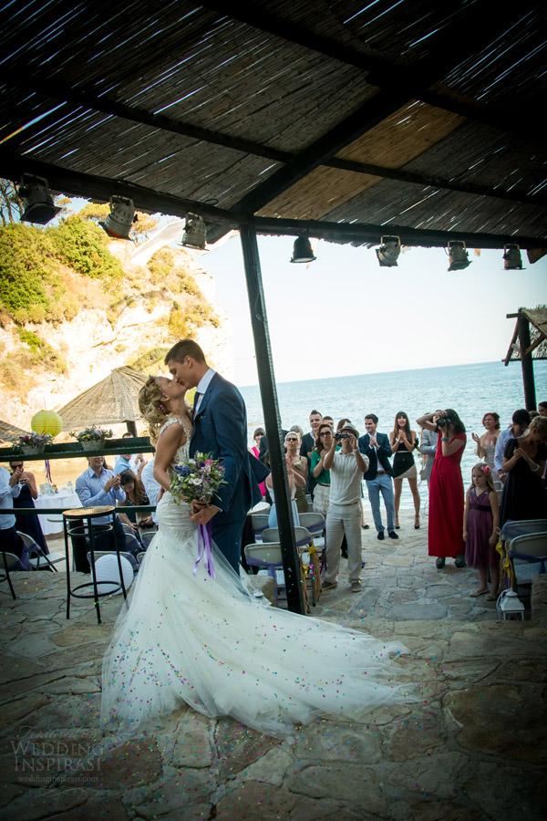 galia Lahav de noiva 2014 noivas reais casal beijo shoot