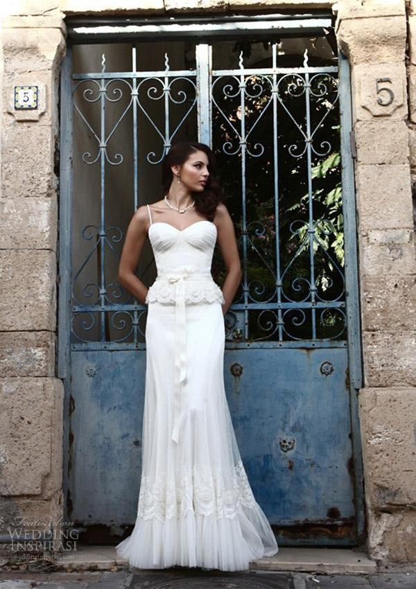 vestido de noiva galia Lahav rendas peplum 2.014 reais noiva sessão de fotos