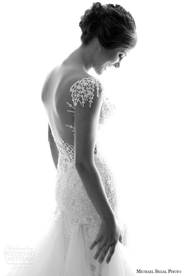sessão de fotos de vestidos de noiva galia Lahav 2014 noivas reais preto e branco