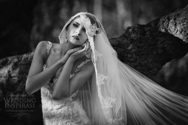 vestidos de noiva galia Lahav 2014 noivas reais preto fotográfico branco atirar véu