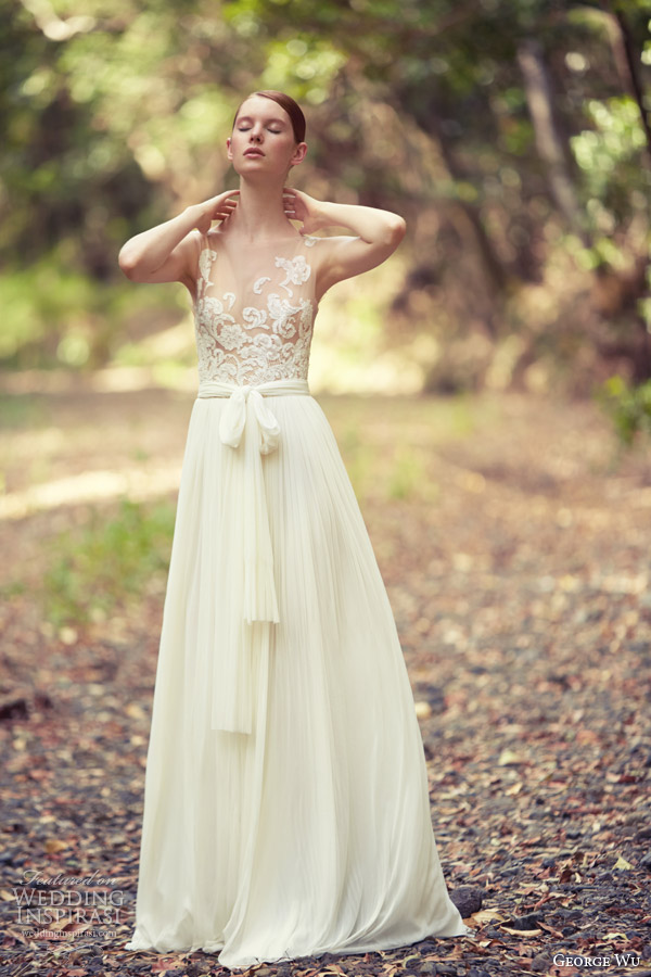 Wedding Dresses With Illusion Bodice : George wu wedding dresses the light of eden bridal