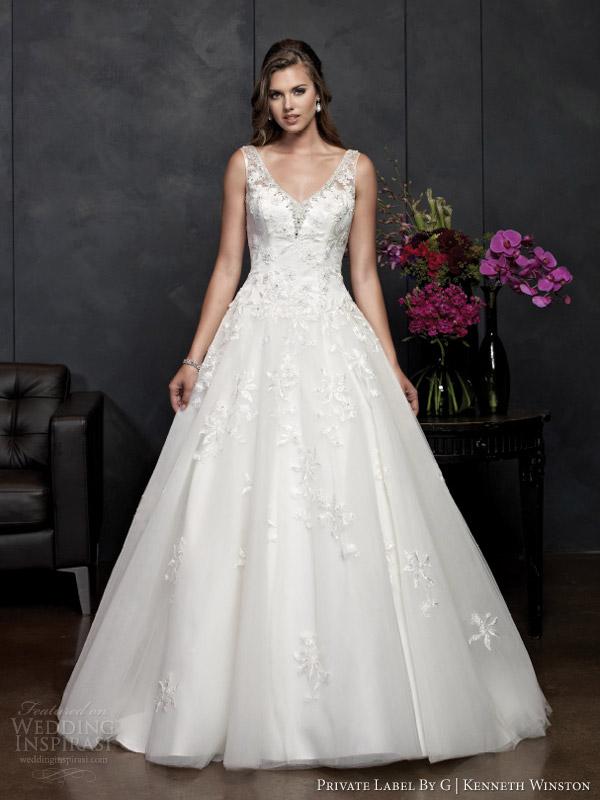 Kenneth Winston primavera 2014 private label por g de casamento sem mangas estilo do vestido 15362
