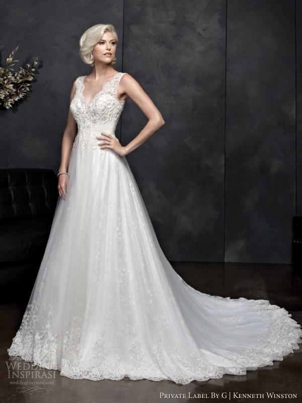 Kenneth Winston primavera 2014 sem mangas casamento vestido estilo 1543
